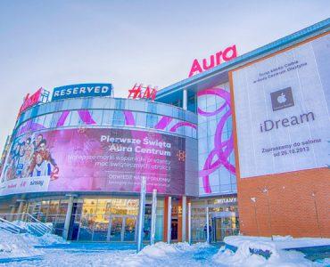 Торговый центр Aura в Ольштыне